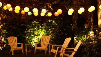 Verlichting voor een tuin als een huiskamer
