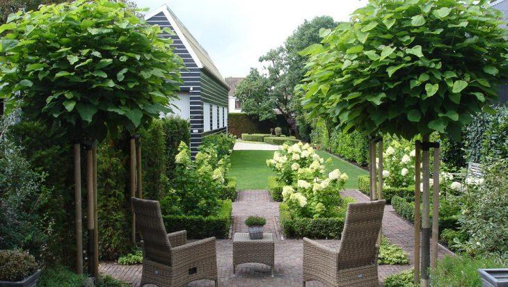 Formele tuin met rustige beplanting