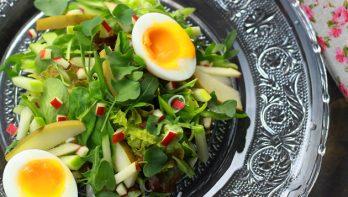 Salade met zilverzuring
