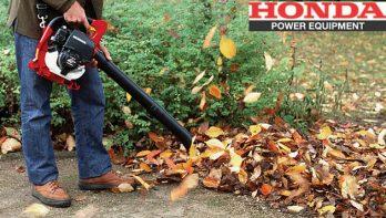 De Honda 4-takt bladblazer handig in de herfsttuin
