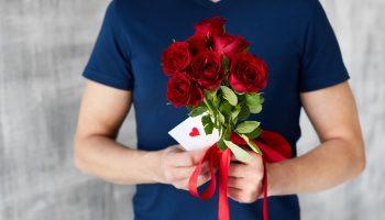 Roos, valentijn, rozen, romantisch