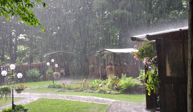 wateroverlast in de tuin