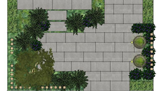 voortuin tekening, praktische voortuin, Antoon Gouw Tuinen, tuinontwerp