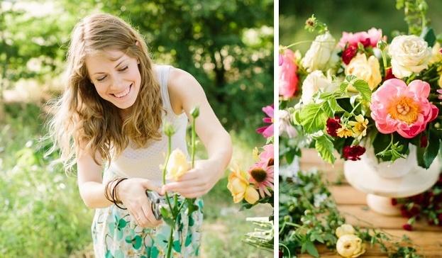 Bloemen plukken uit eigen tuin
