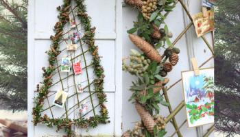 Kerstboom gemaakt van wilgentakken