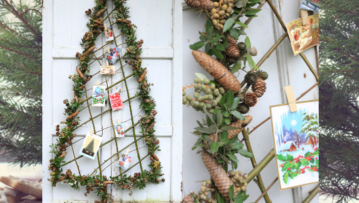 Kerstboom van wilgentakken