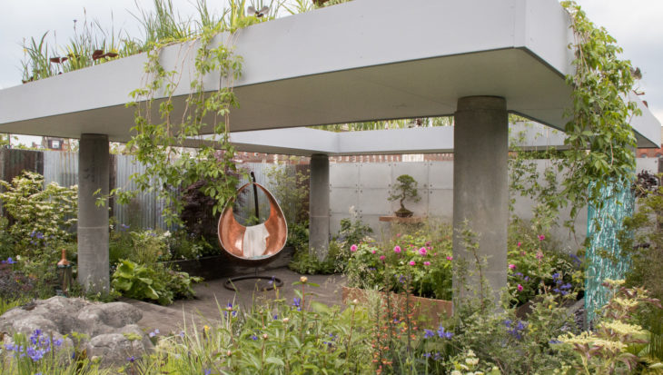 Sfeervolle en groene binnentuin