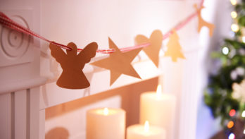 Dromen van kerstmis met zelfgemaakte decoratie