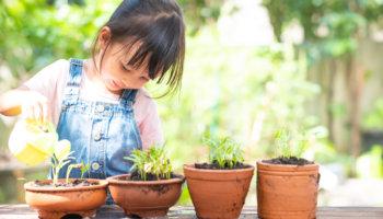 tuinieren met de kinderen